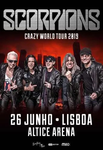 ROCK CONCERT | Scorpions' Crazy World Tour 2019 | Parque das Nações | 32€ to 54€ @ Altice Arena | Lisboa | Lisboa | Portugal