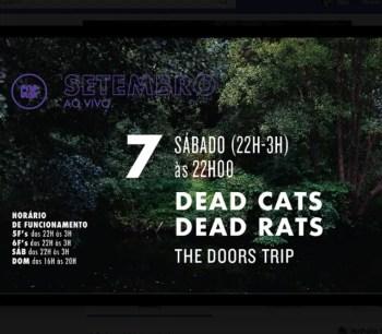 MUSIC   Dead Cats Dead Rats: The Doors Trip   Campo Grande   TBD @ Popular Alvalade   Lisboa   Lisboa   Portugal