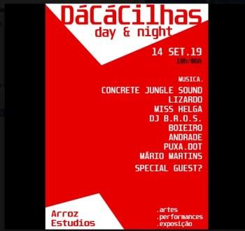 PARTY   DáCáCilhas Day & Night   Cacilhas   5€ @ Arroz Estúdios   Lisboa   Setúbal   Portugal