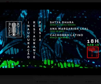 ART, FOOD, POETRY, MUSIC | NadaTemple: Inauguration of Restaurante Poesia | Braço de Prata | 5-35€