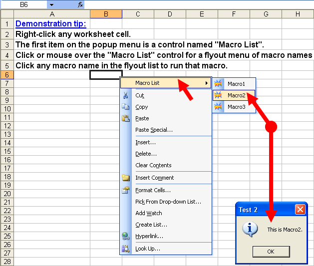 Tom's Tutorials For Excel Customizing Your RightClick