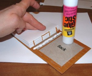 Glue down binding and back endpaper