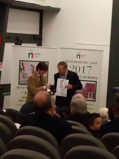La cerimonia di premiazione con l'assegnazione della Palma al merito tecnico al prof. Di Paola