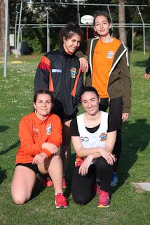 La staffetta 4x100 B con Cinili-Fiacconi-Ferretti-Di Stefano