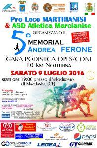 Locandina 5 Memorial Andrea Ferone 9 Luglio 2016