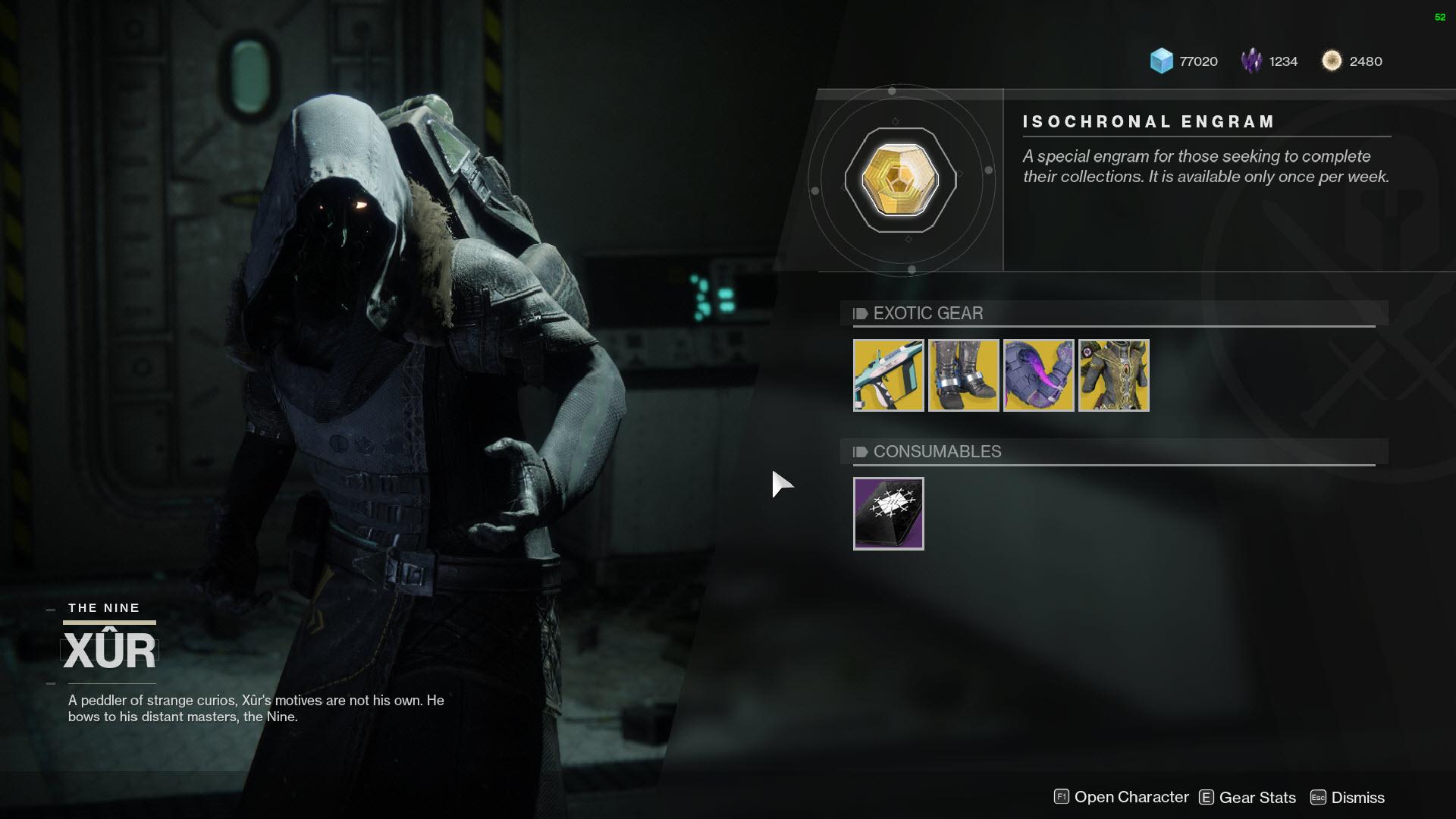 Destiny 2 Xur Location And Inventory For Dec