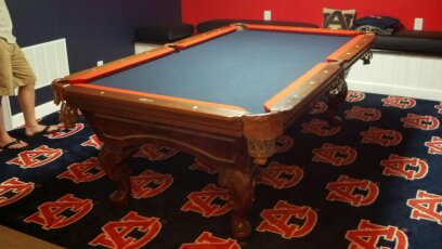 Custom Billiards Cloth And Two Tone Felting And Rails