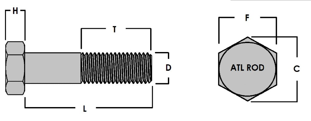 medium resolution of finished hex bolt and nut 2