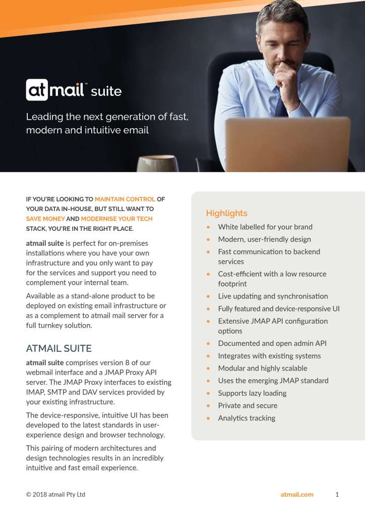 atmail suite - cover