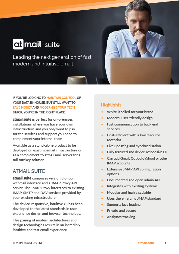 atmail suite product brochure