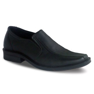 sepatu pantofel pria loafer A03 black - atmal