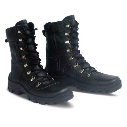 sepatu kulit pria boots B05 black - atmal