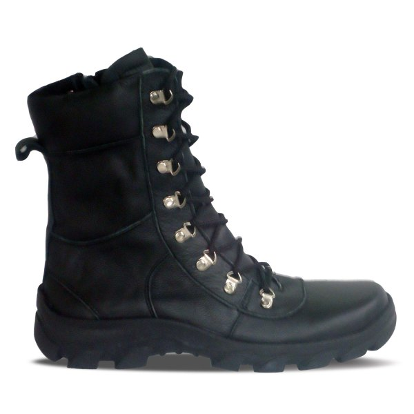 sepatu kulit pria boots B05 black - out - atmal