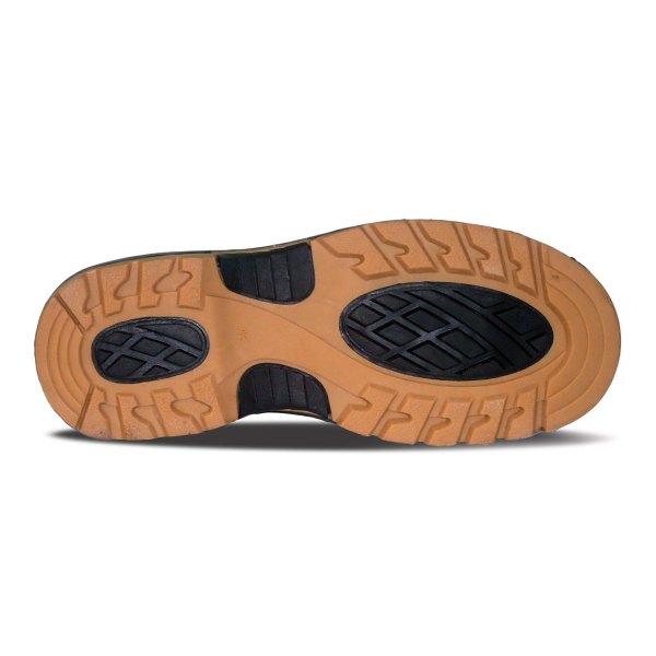 sepatu kulit pria boots B07 brown - bawah - atmal