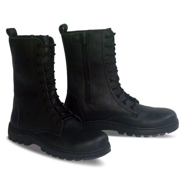 sepatu kulit pria derby boots B12 black - atmal