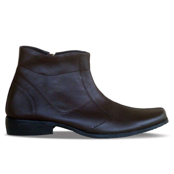 sepatu kulit pria boots formal B14 brown - atmal