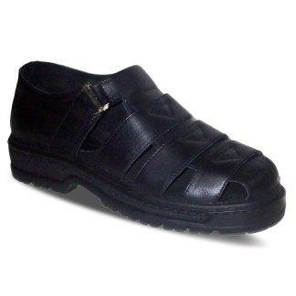 sepatu kulit pria casual C01 black - atmal