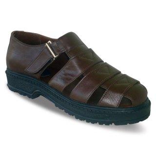 sepatu kulit pria casual C01 brown - atmal