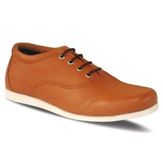 sepatu kulit pria oxford casual C07 tan - atmal
