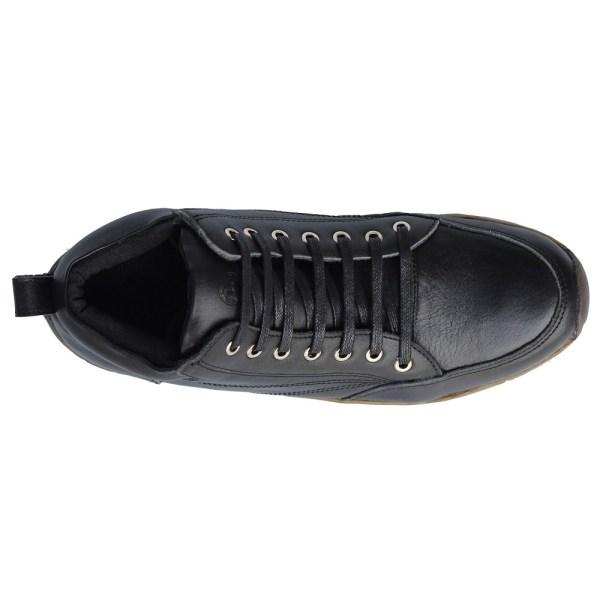 sepatu kulit pria casual C08 black - atas - atmal