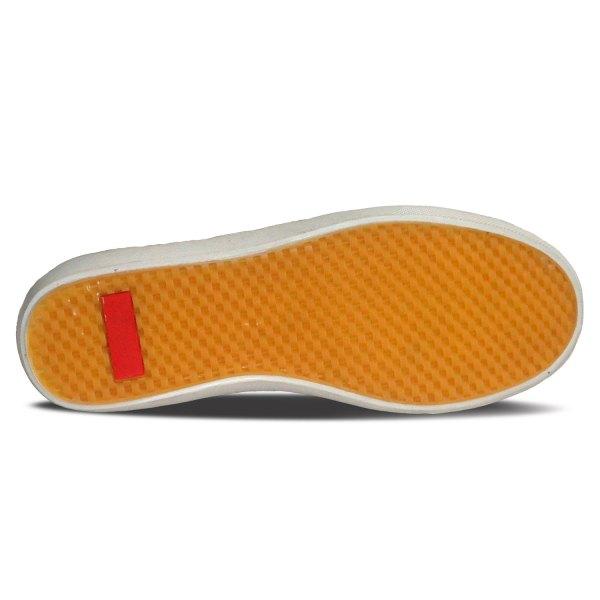 sepatu kulit sneakers derby D08 tan black - bawah - atmal