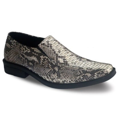 sepatu kulit ular python pantofel pria python loafer AP01 natural - atmal