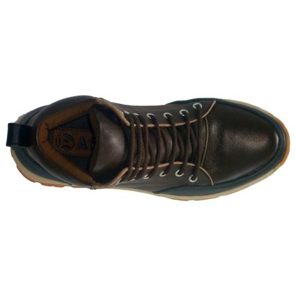 sepatu kulit pria casual C08A brown black - atas - atmal