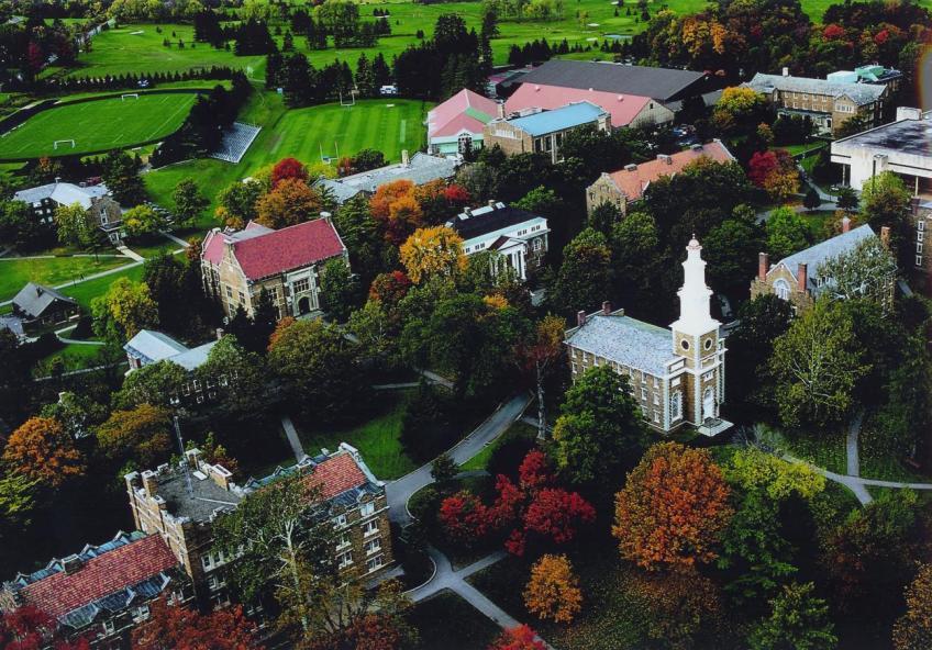 Campus (aerial view), Hamilton College