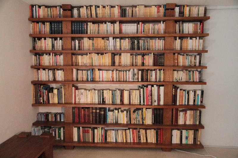 bibliotheque sur mesure bois massif