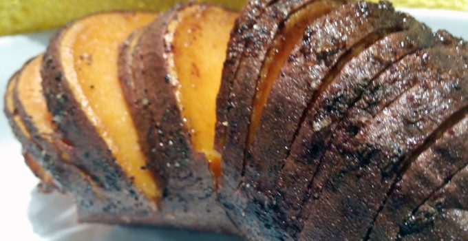 Spiced Hasselback Sweet Potatoes