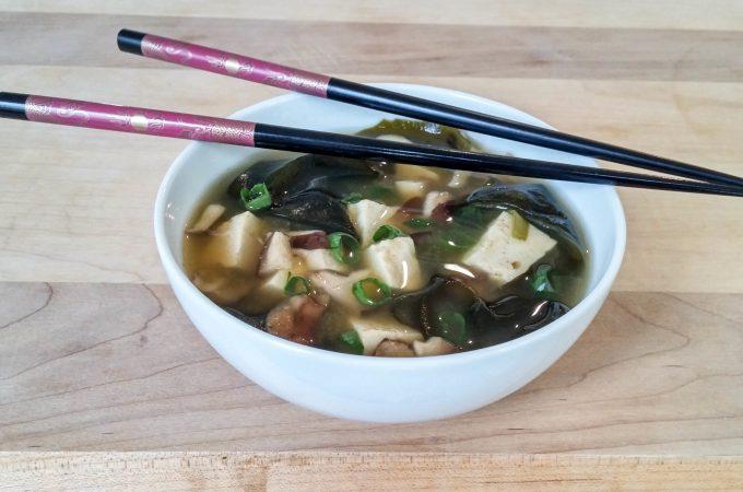 Shiitake Miso Soup (Vegan)