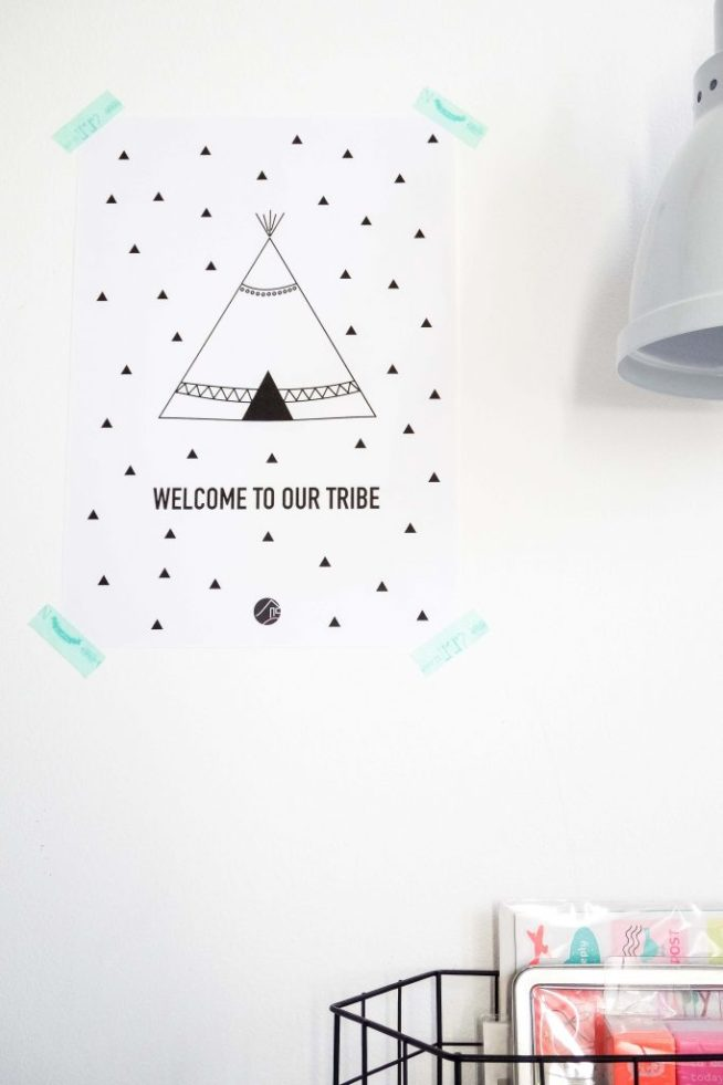Printable tipi quote - at mi casa