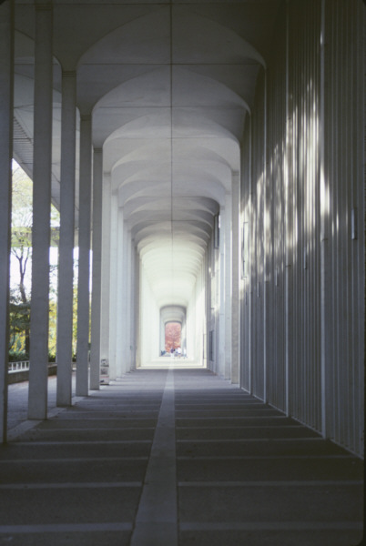 Wind Channelling Tunnel Formed By The Colonnades On The