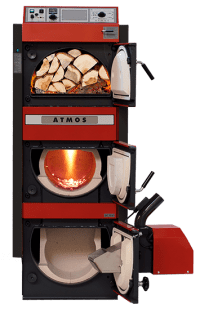 Combi boilers for wood and pellets or heating oil | ATMOS