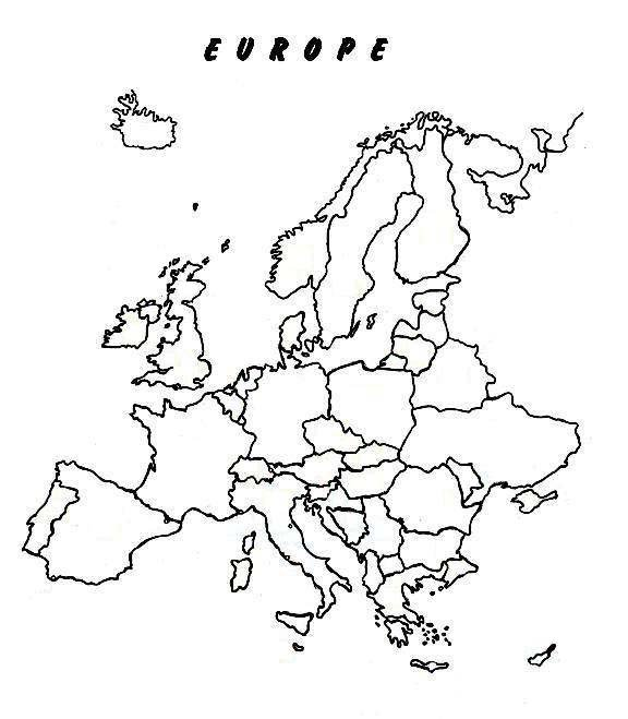 Europe Clipart Sketch Map