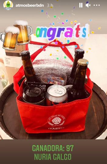 ganadora regalo cesta navidad