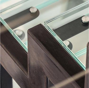 escalier metal et verre sur mesure