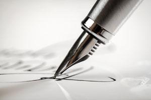 El acto de escribir