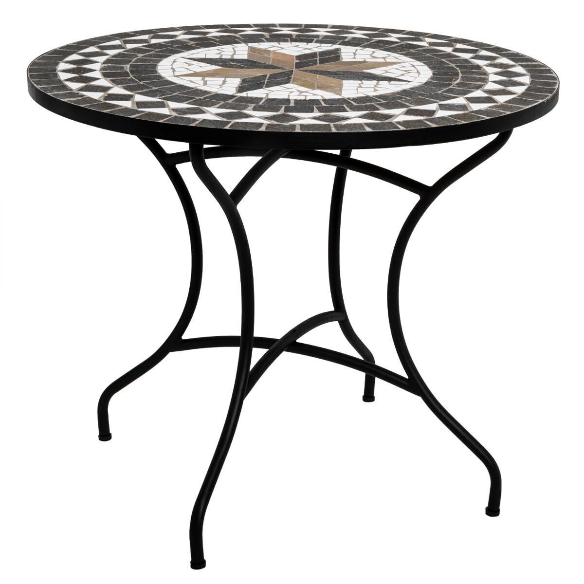 table a manger ronde kipos en mosaique d90 cm
