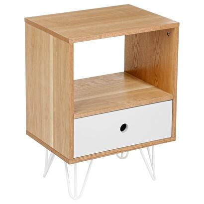 table de chevet unie grise shulg 1 tiroir table de chevet en bois mdf