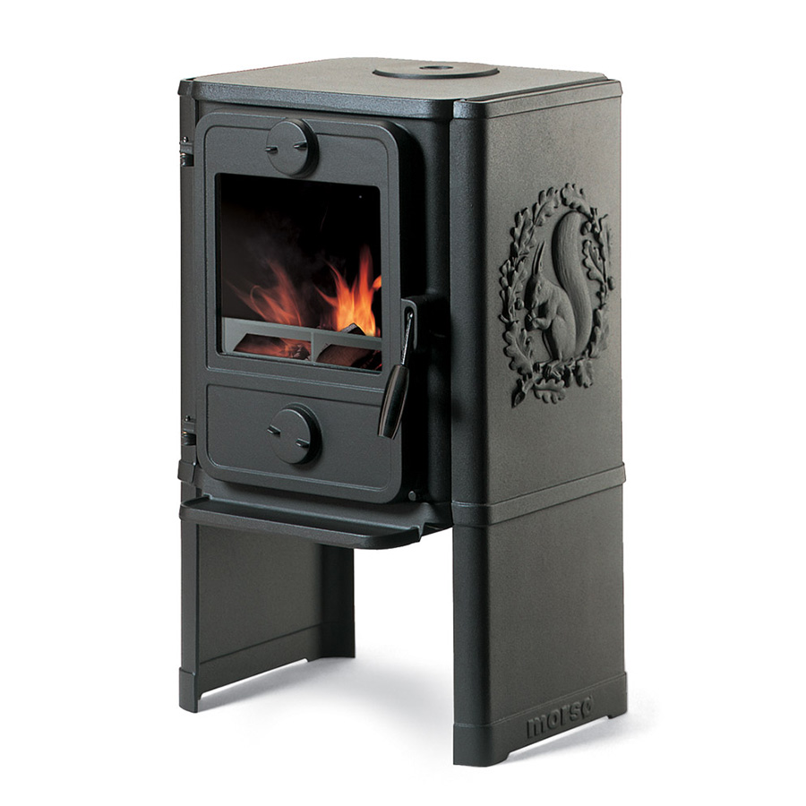 Cast Iron Cook Stove Morso Squirrel Central Heating Systems Diagrams