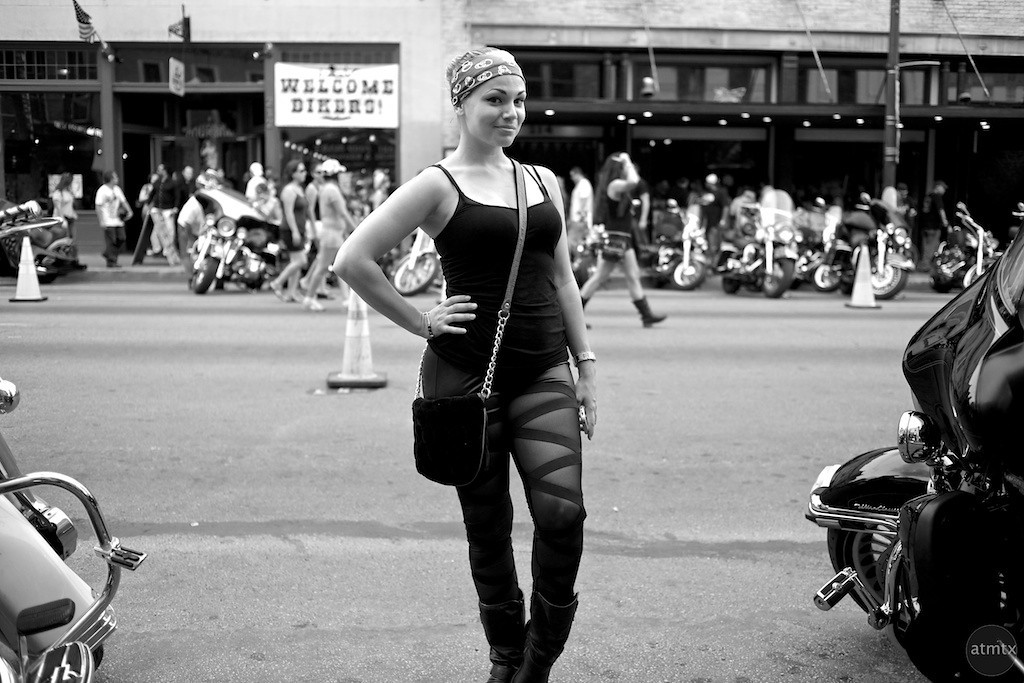 Posing on 6th Street, 2013 ROT Rally - Austin, Texas