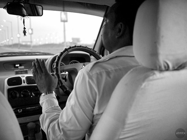 BJ Kumar drives a Tata - Delhi, India
