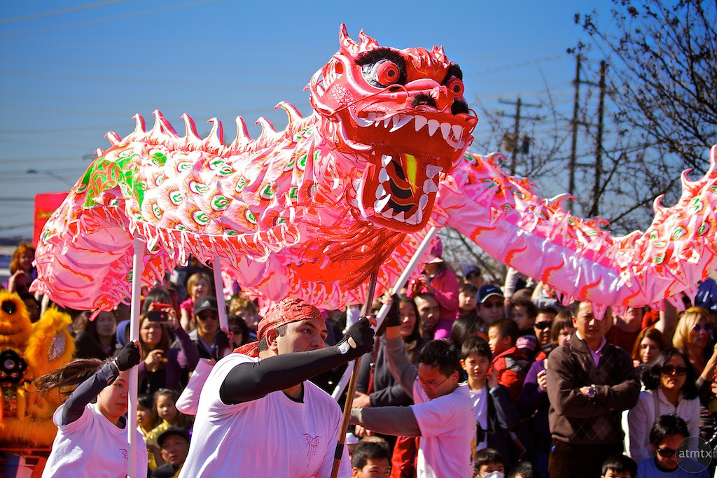 Dragon Dance Closeup, 2012 Chinese New Year Celebration