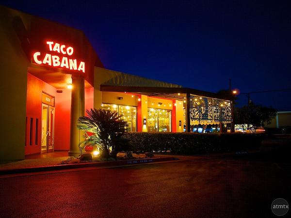 Blue Hour Exterior, Taco Cabana - Austin, Texas
