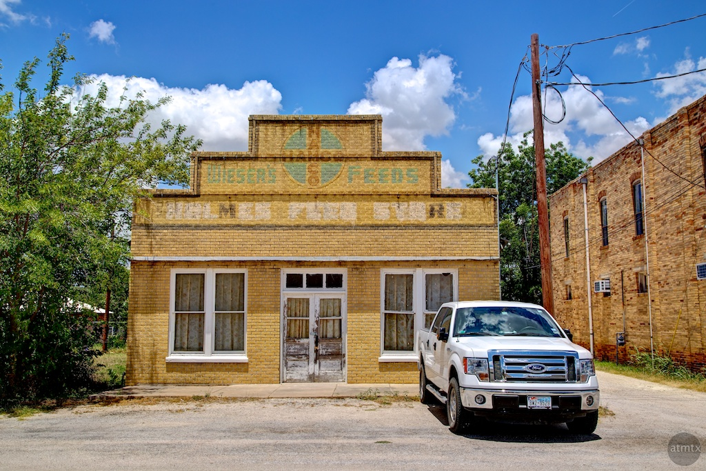 Old Store and New Truck - Bertram, Texas