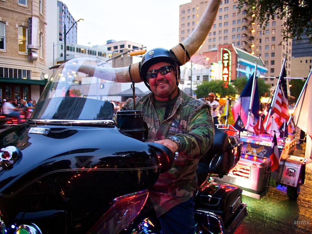 Horns, ROT Rally Parade - Austin, Texas