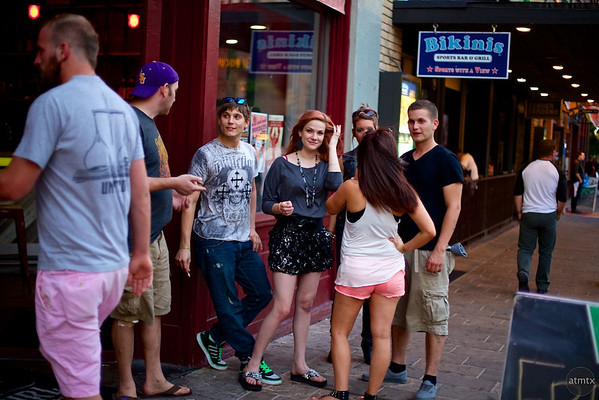 Molly and Friends, Candid on 6th Street - Austin, Texas