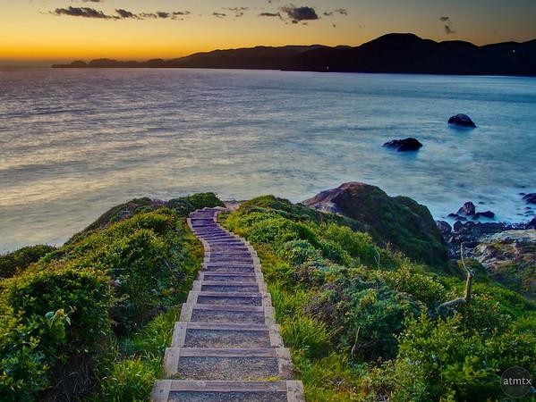 The Stairs at Battery Crosby - San Francisco, California