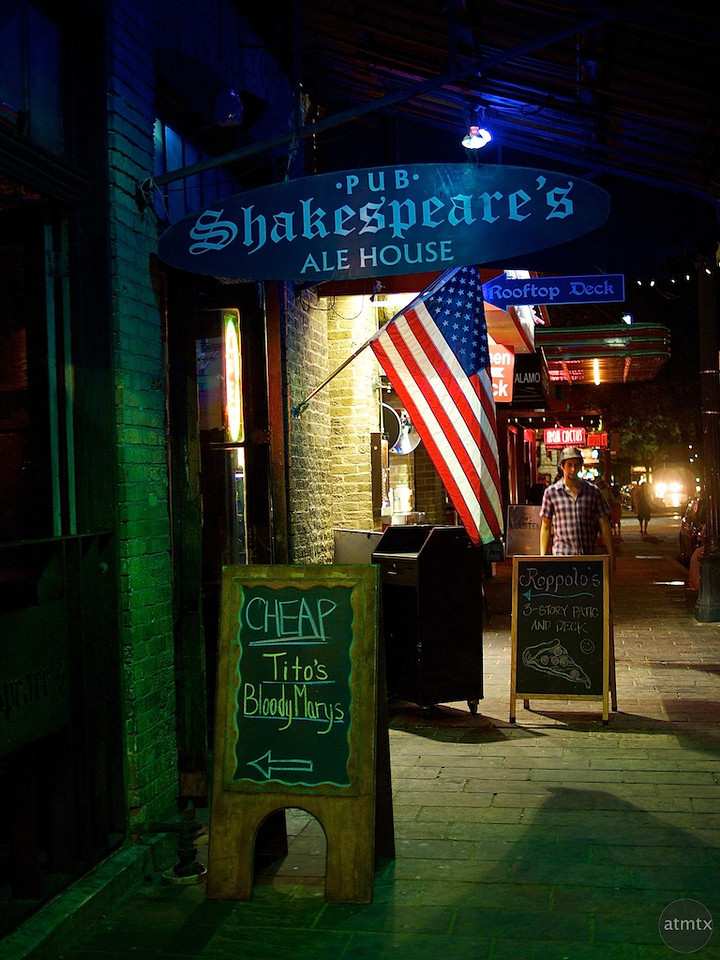 Cheap Drinks, Shakespeare's Pub - Austin, Texas